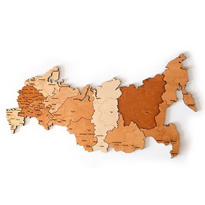 Деревянный пазл Карта России